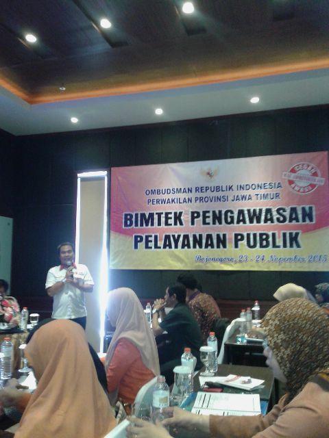 Bimbingan Teknis Pengawasan Pelayanan Publik<BR>bersama Ombudmen Wil Jatim